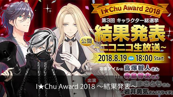 【アイ★チュウ】I★Chu Award ~2018~ 第3回 キャラクター総選挙 結果発表